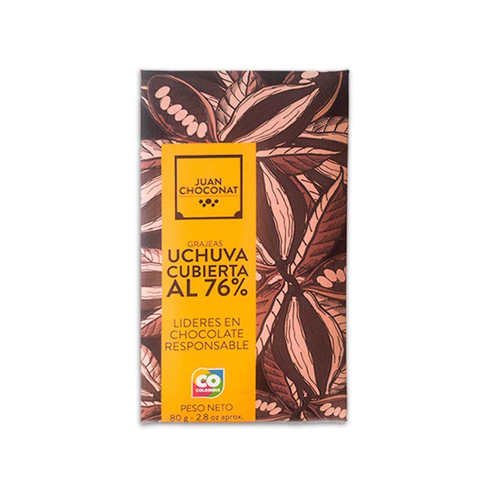Choconat - Grajeas Uchuva Cubierta al 76% Sin Tostar 80 gr