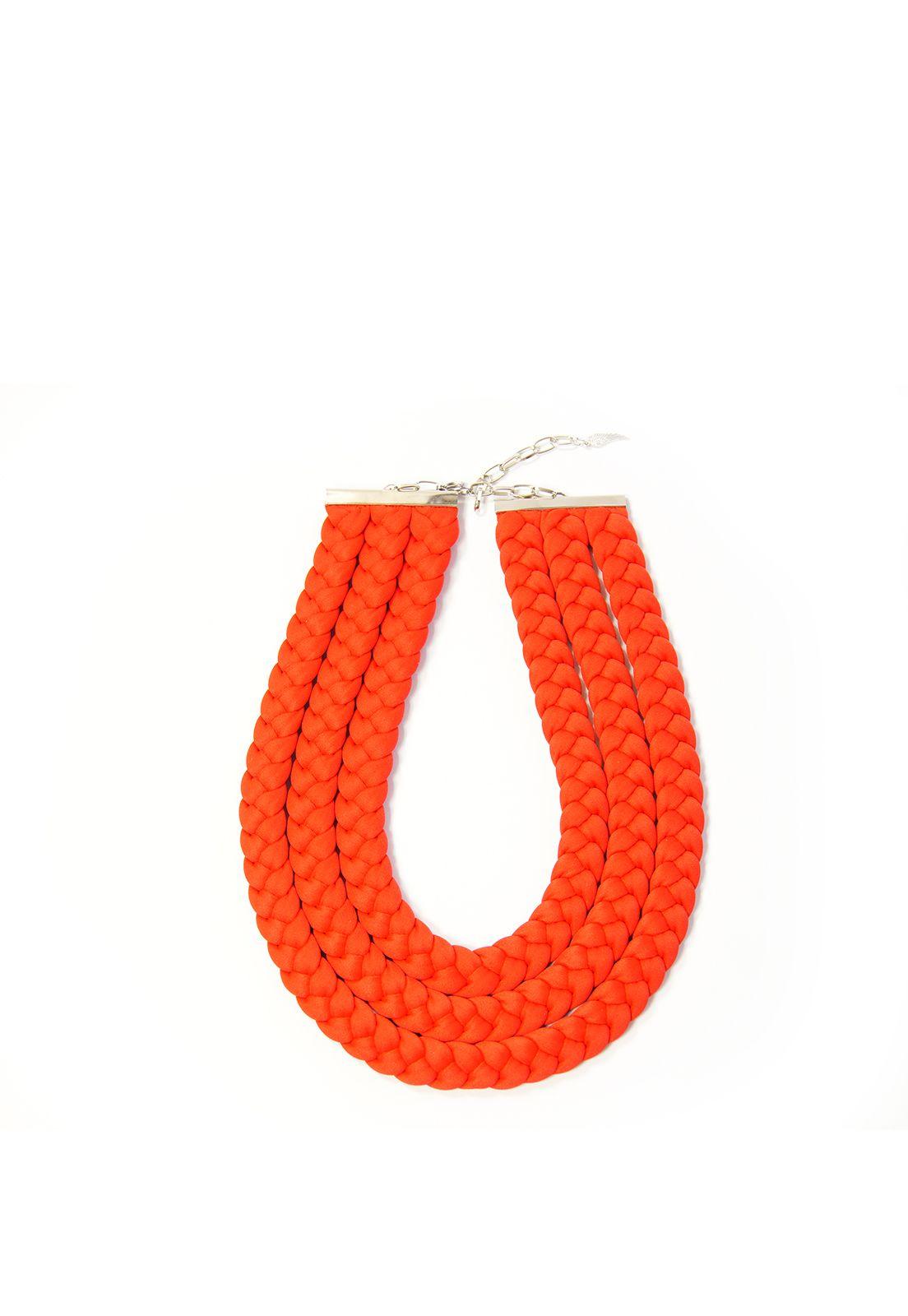 Birdienumnum · Collar rojo trenzado