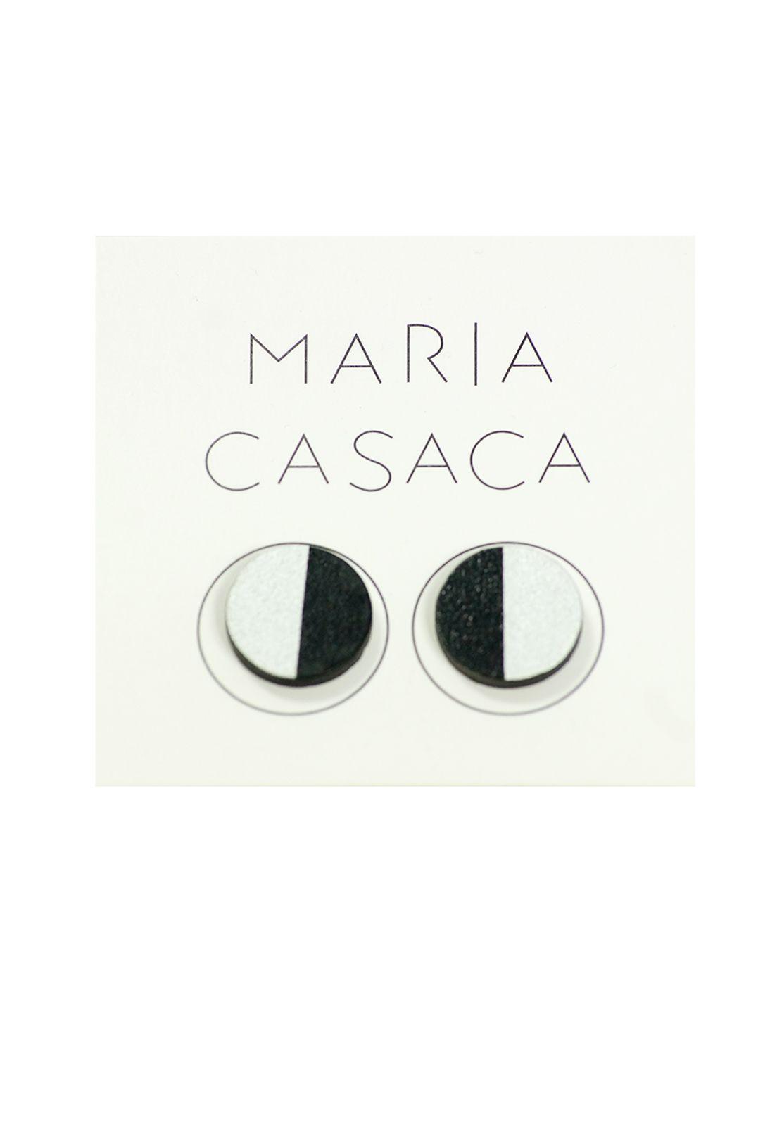 Maria Casaca · Aros cirilos negro-plateado