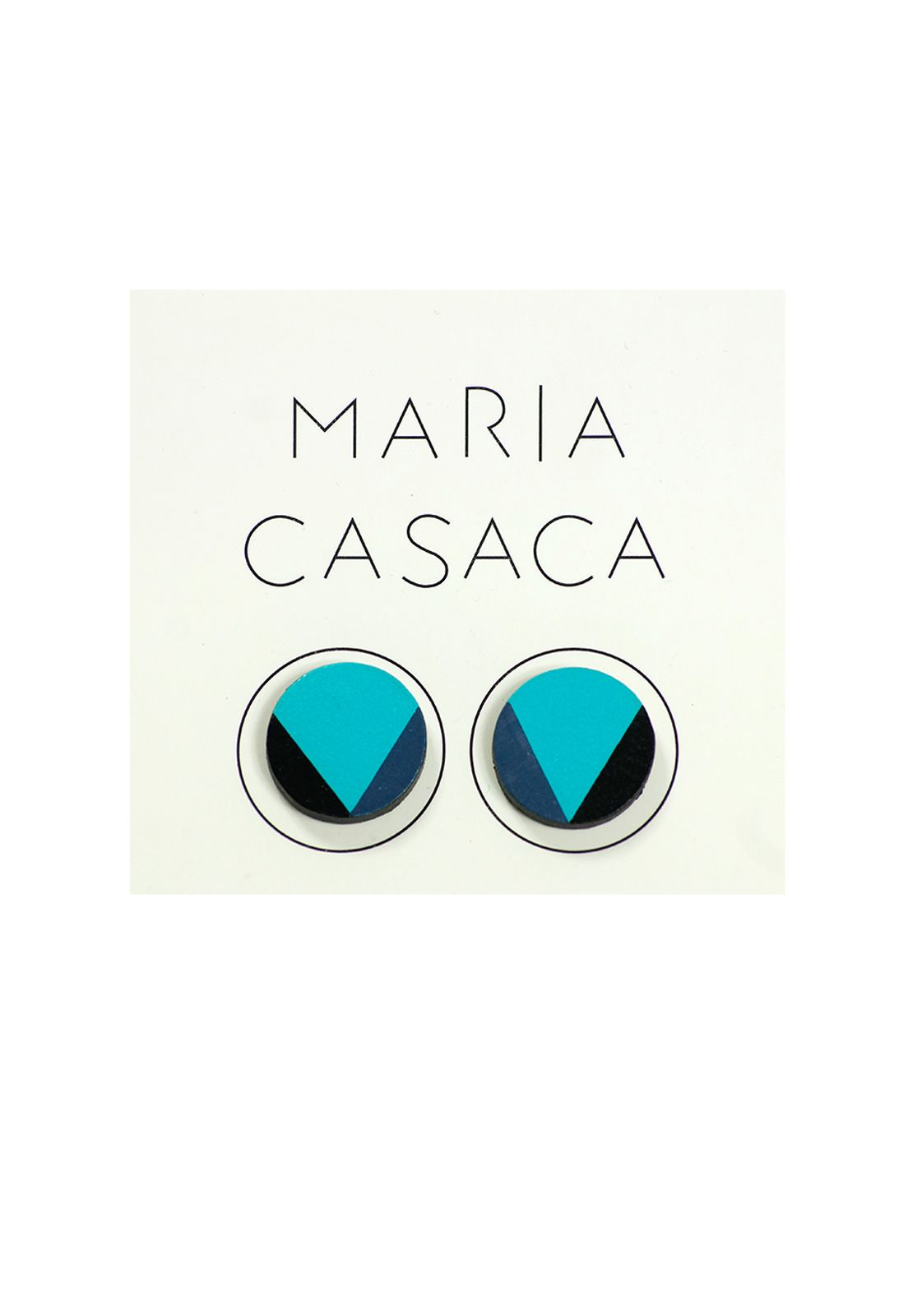 Maria Casaca · Aros cirilo turquesa