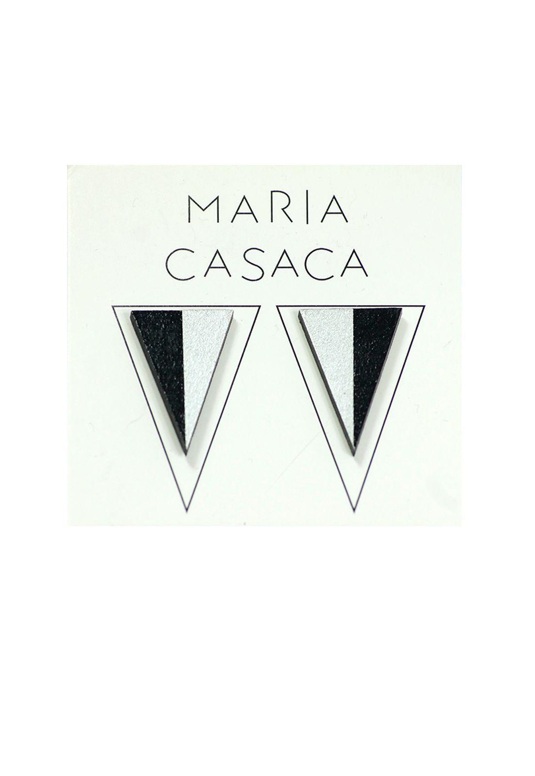 Maria Casaca · Aros avelinos negro-plateado