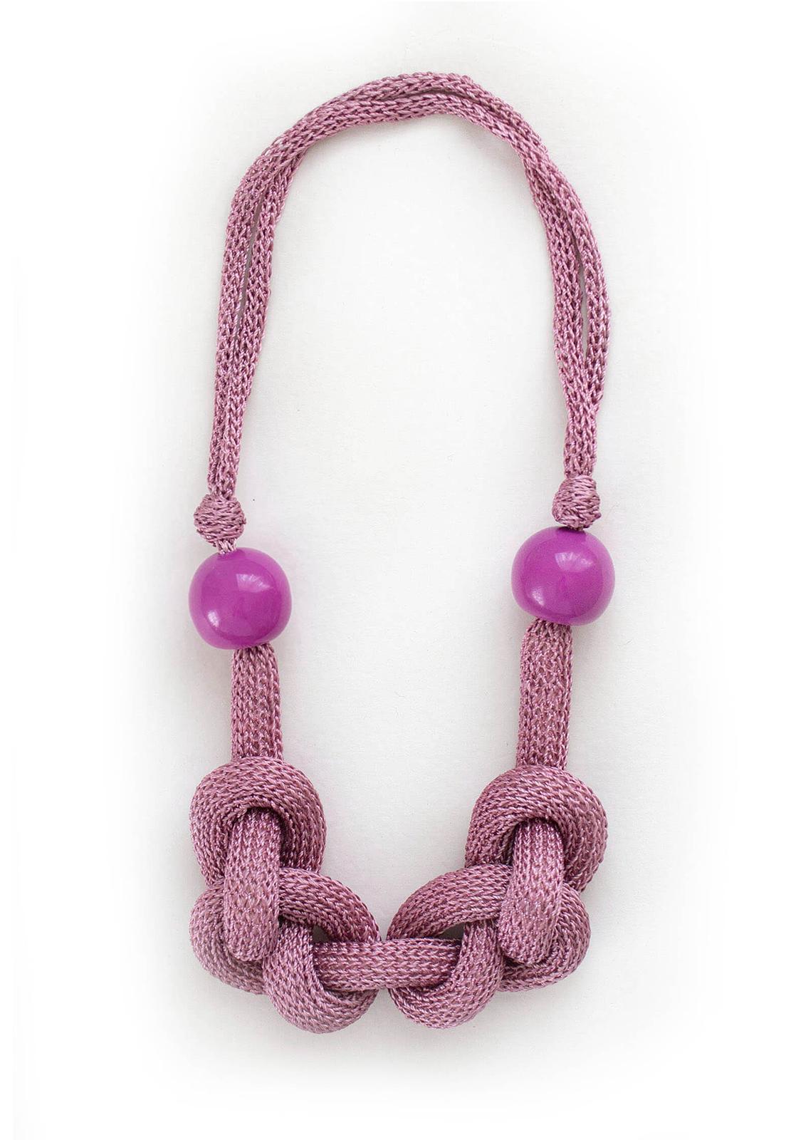 Collar Luisa Rosa / Perlas Púrpura