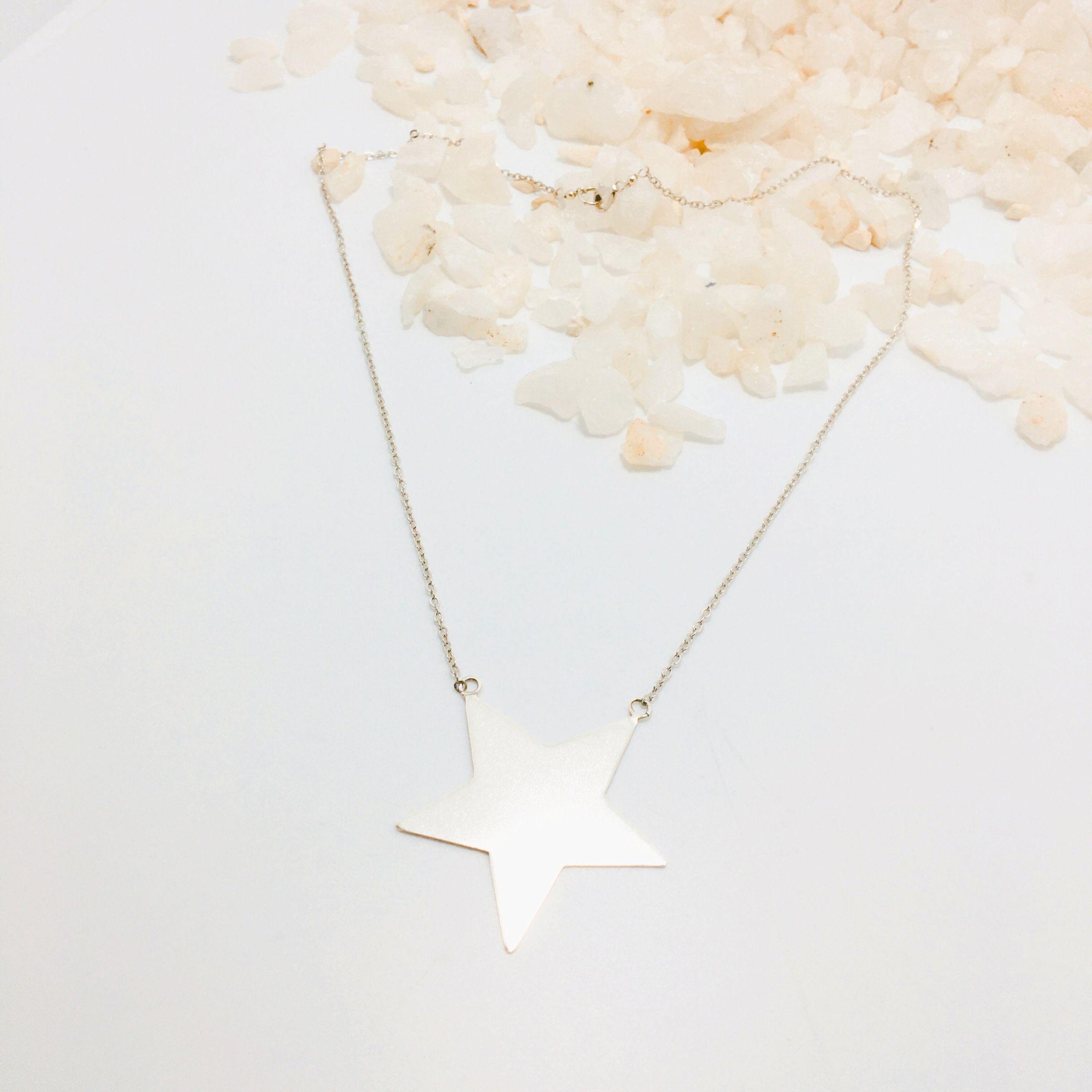 Collar Estrella Hecha a Mano Plata