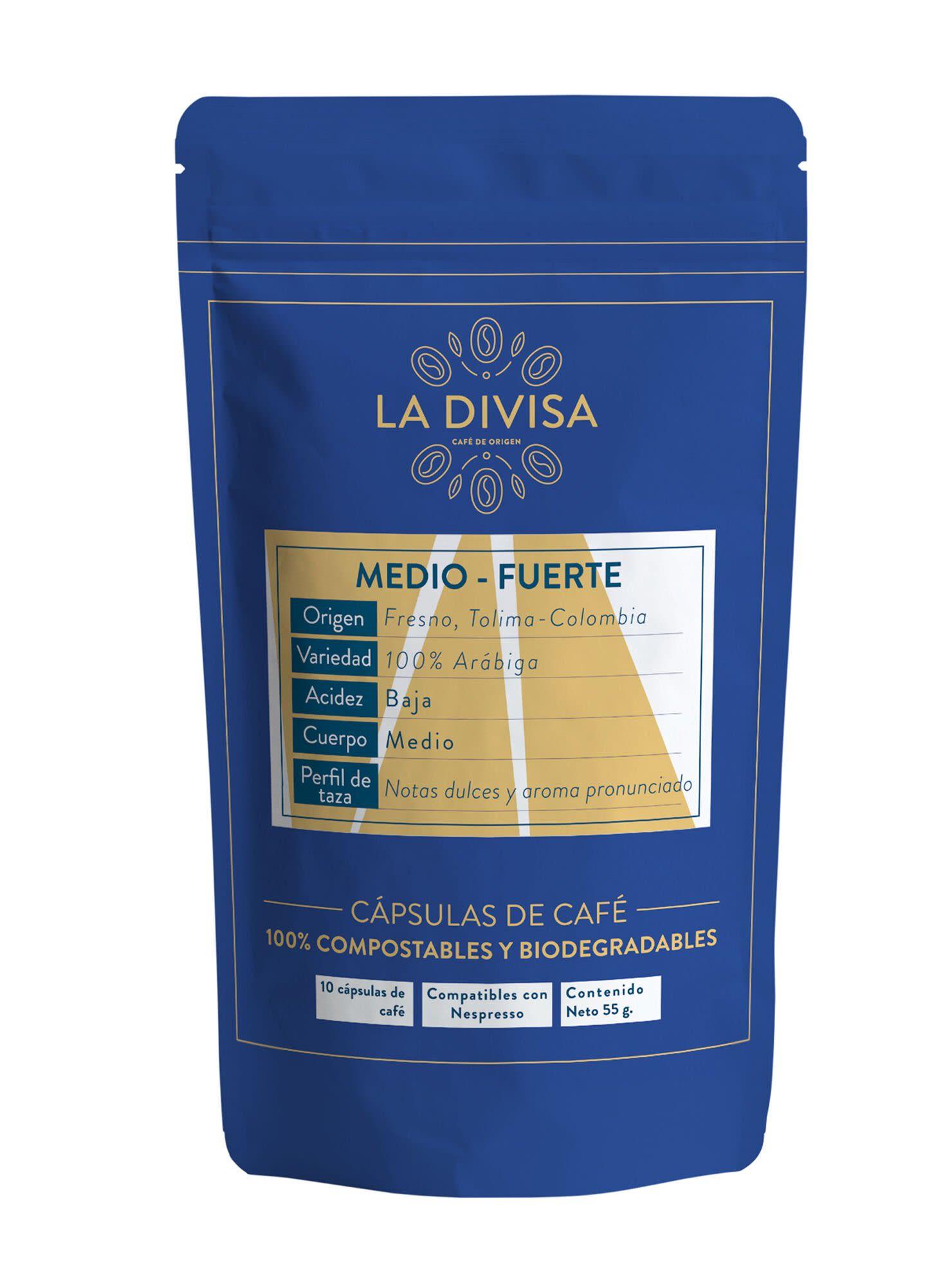 Pack 10 Cápsulas de Café Medio Fuerte