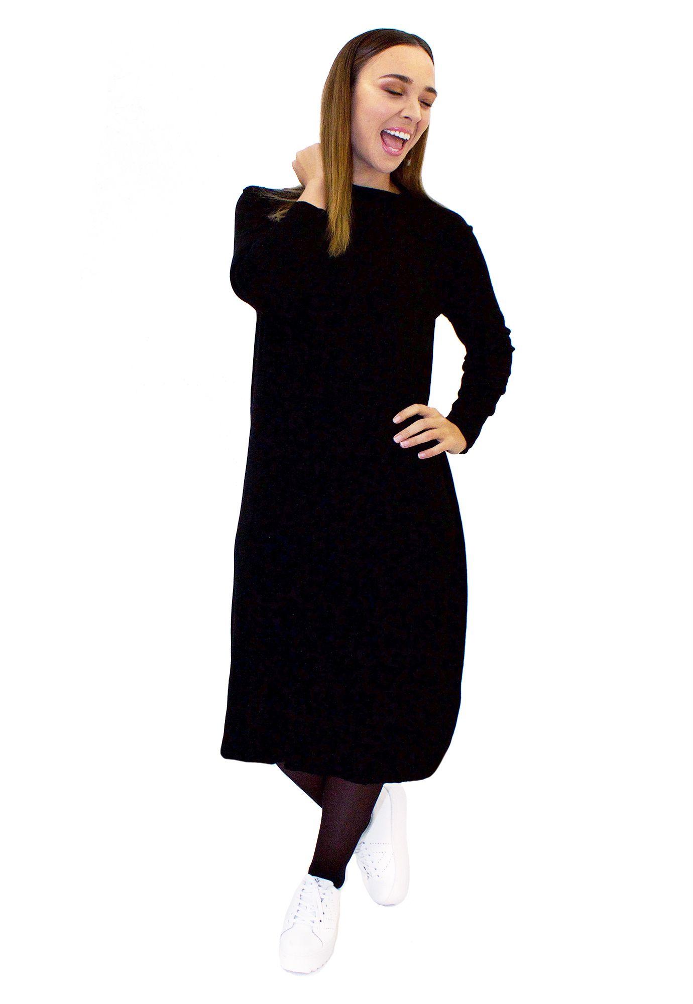 Vestido Cuello Negro Long - Loreto Correa - Agrupa