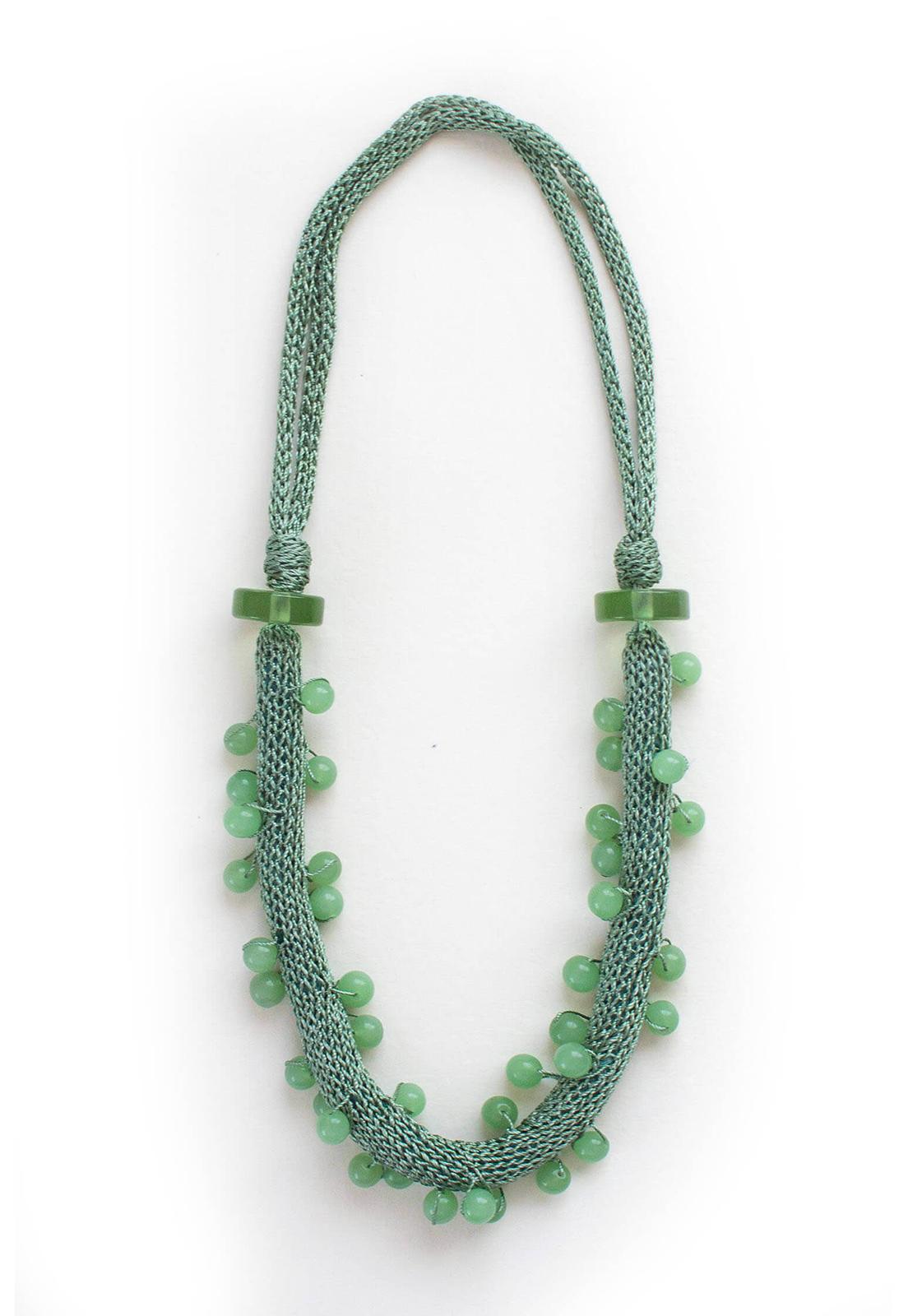 Collar Juana Verde / Perlas Verdes