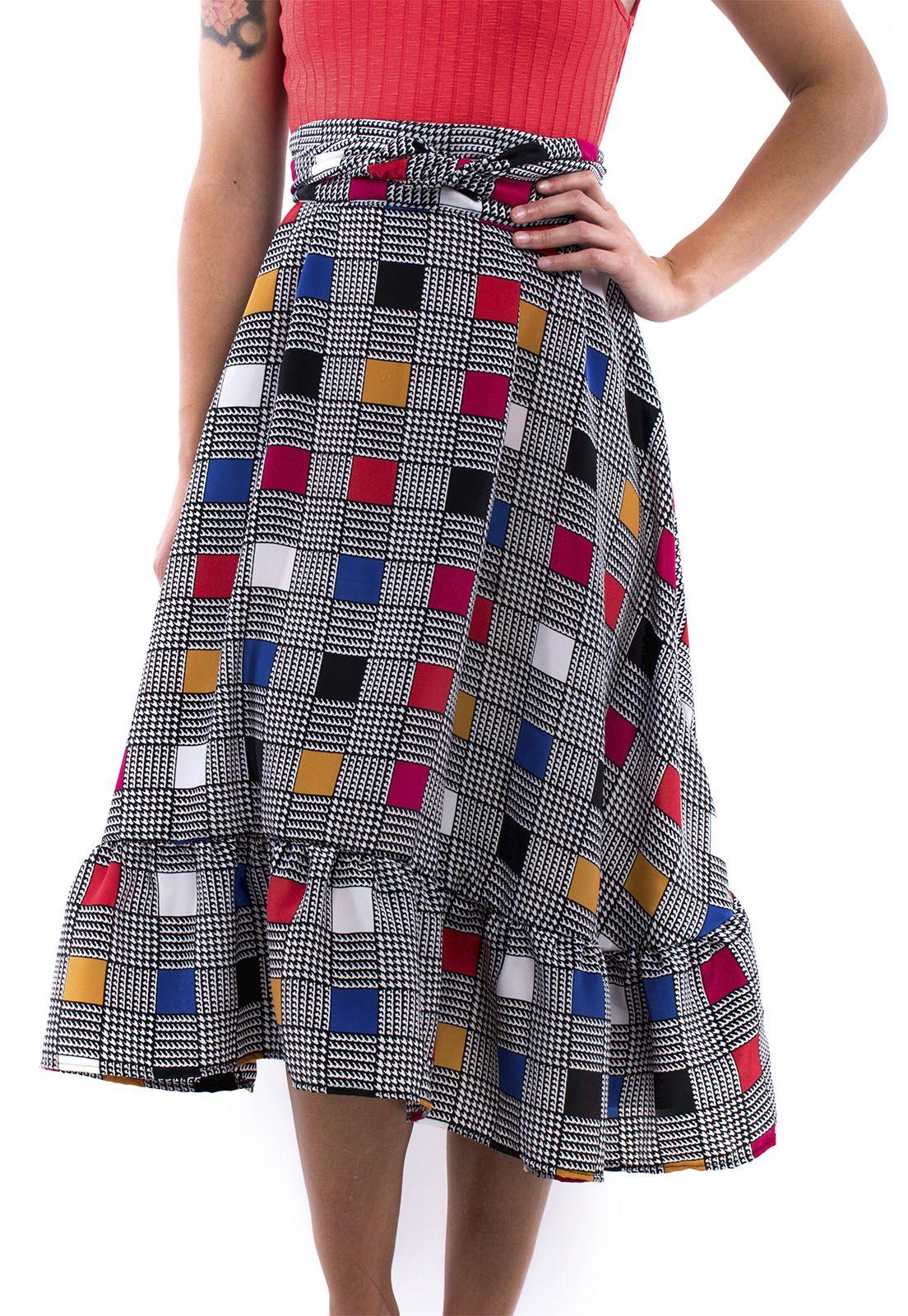 Falda pareo cuadros colores