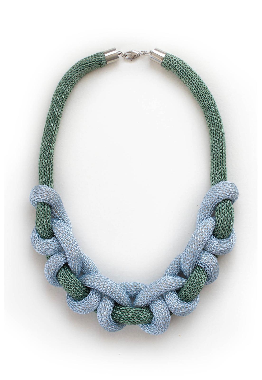 Collar Doris Verde / Celeste