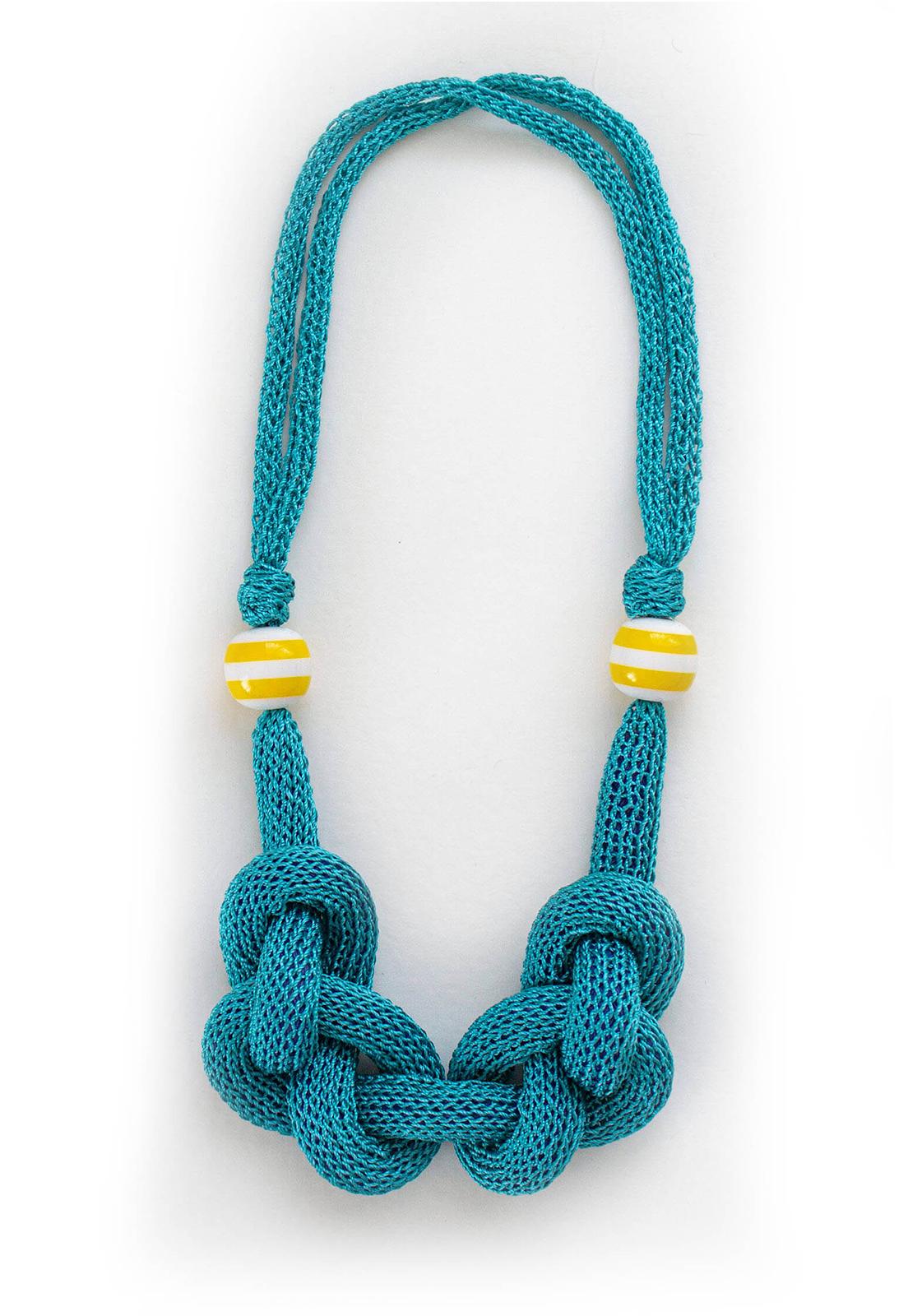Collar Luisa Turquesa / Perlas Amarillas