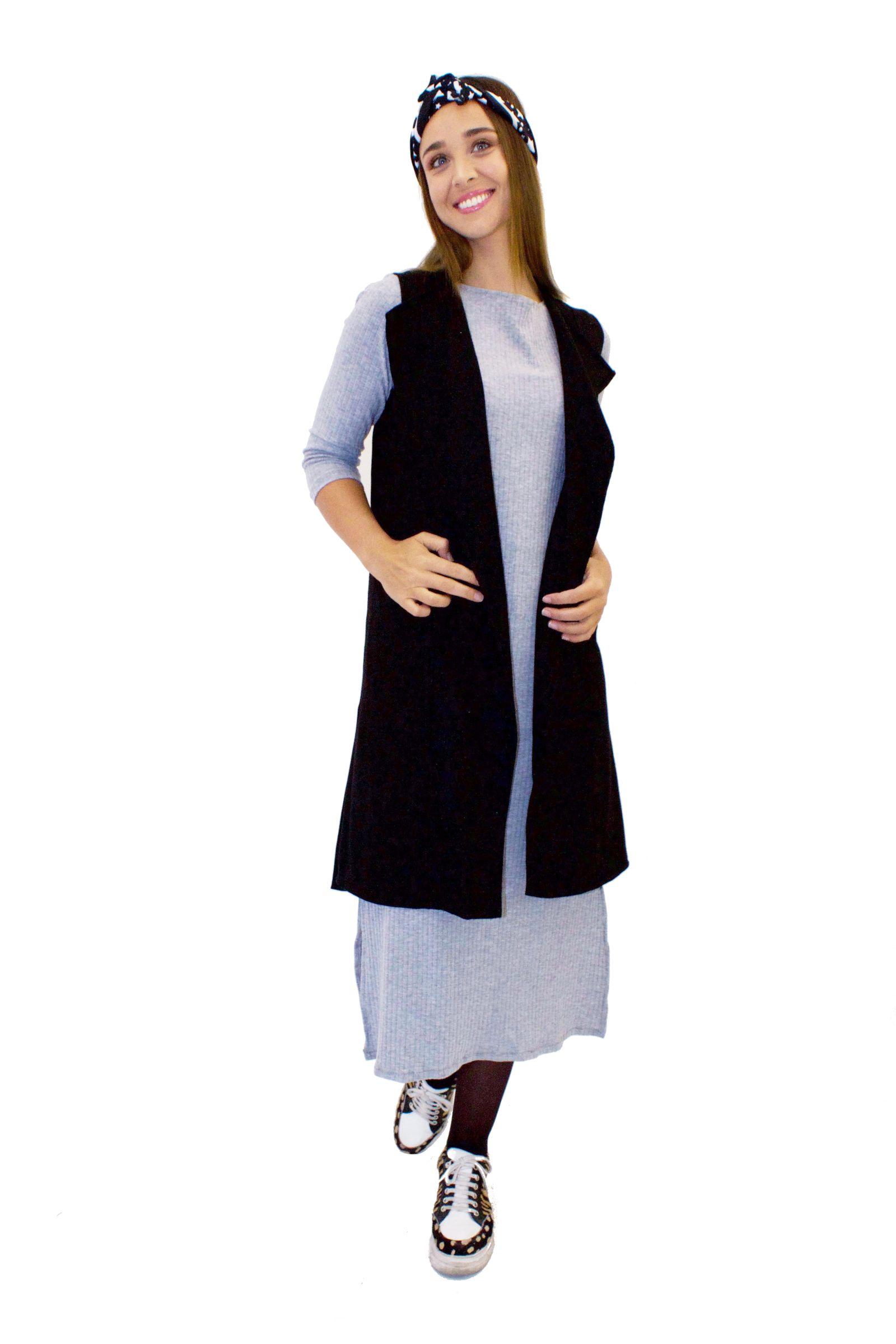 Vestido Basico Gris - Loreto Correa - Agrupa