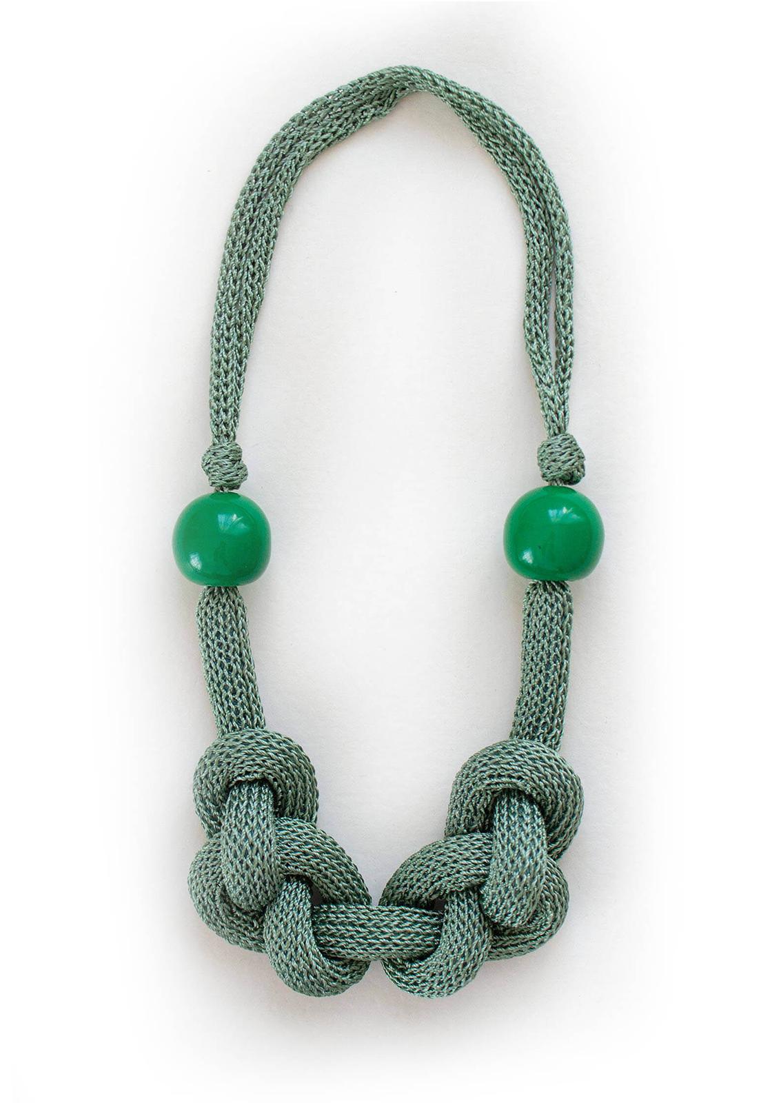 Collar Luisa Verde / Perlas Verdes