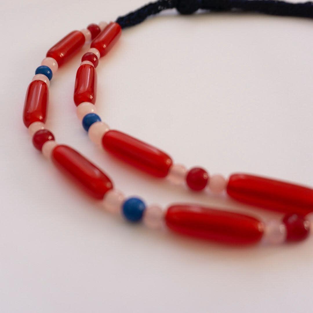 Collar Greta Rojo flauta - Galga