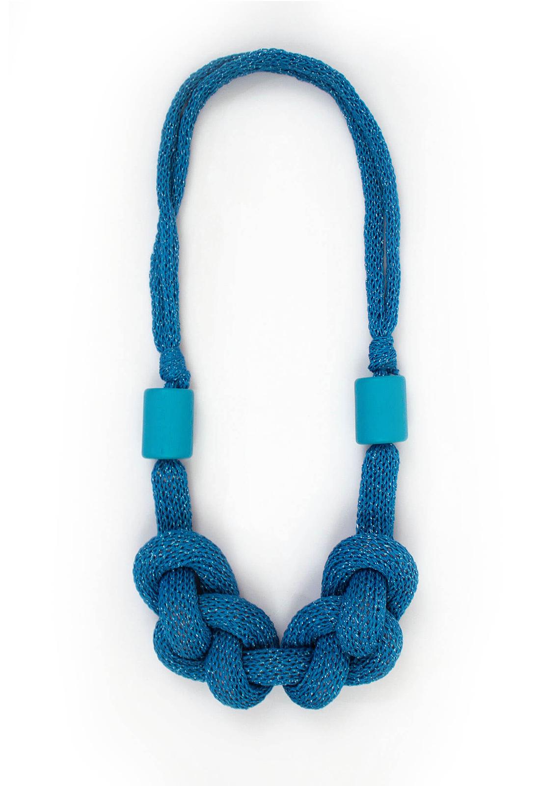 Collar Luisa Lurex Celeste / Perlas Celeste