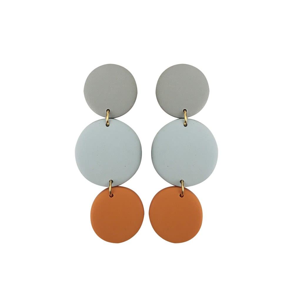 Aros Orange Grey - Marmol Accesorios