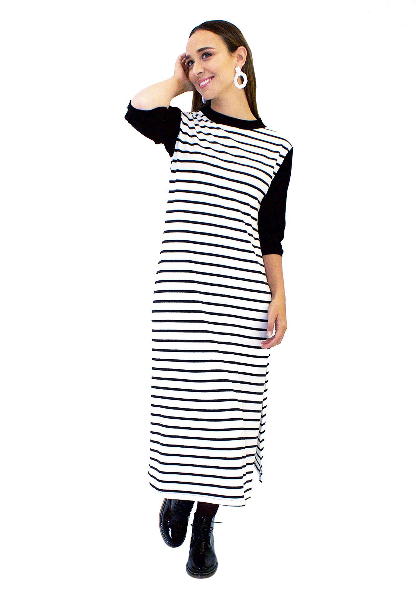 Vestido Rayado Largo - Loreto Correa - Agrupa