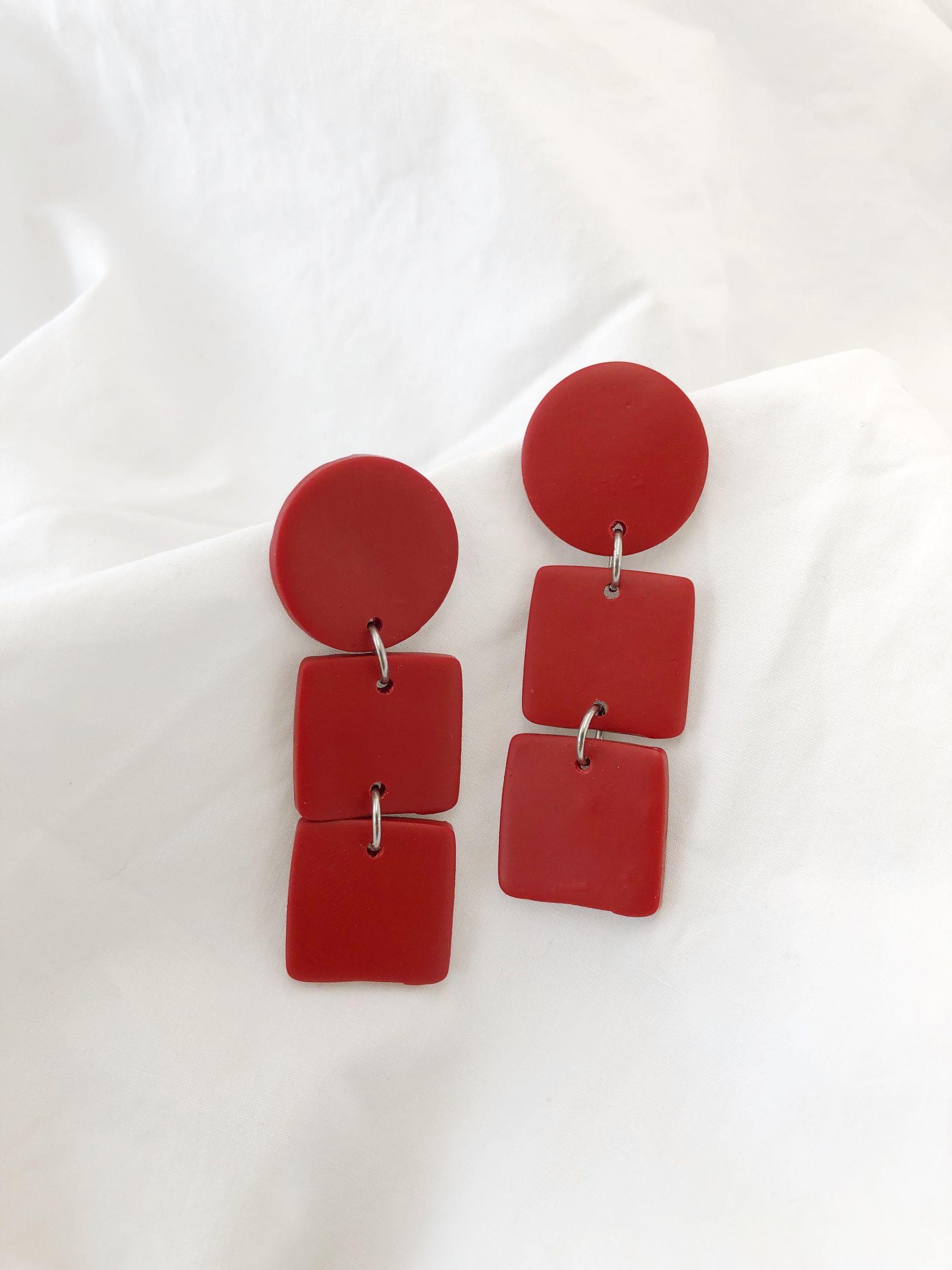 Aros 3 Piezas Rojo