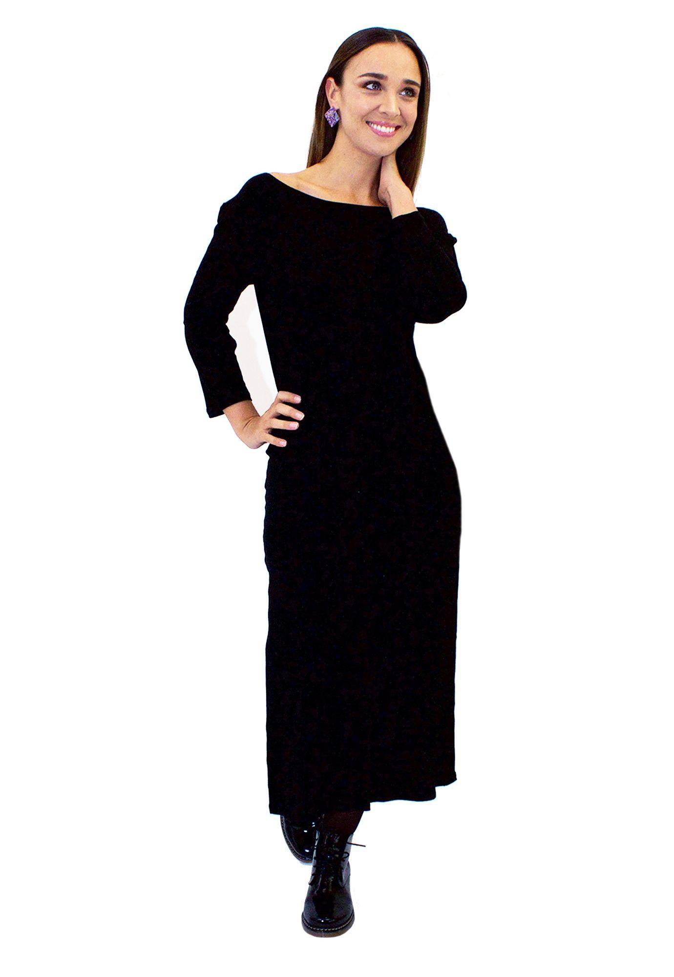 Vestido Basico Negro - Loreto Correa - Agrupa