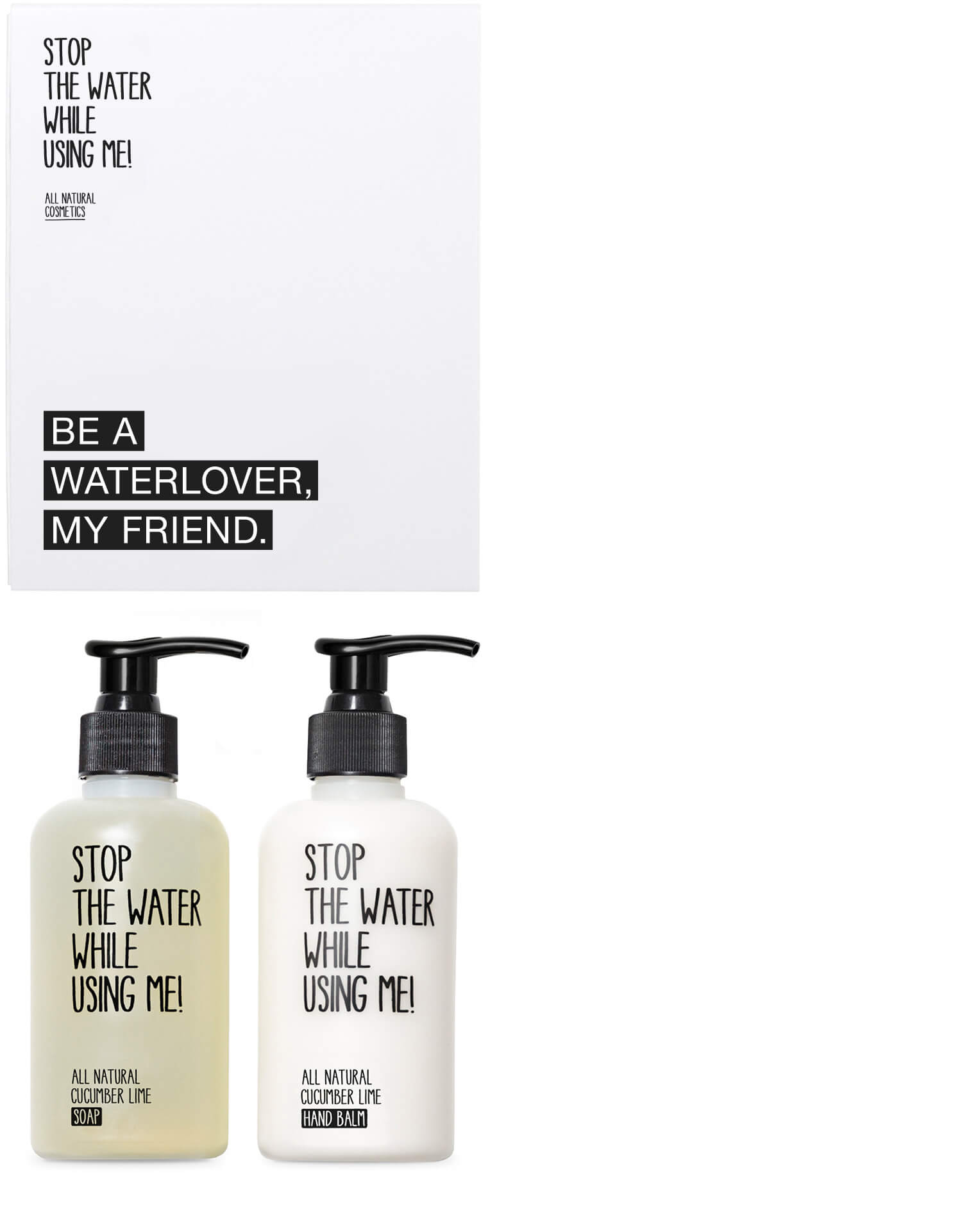 SET WATERLOVER CUCUMBER LIME - STOP THE WATER