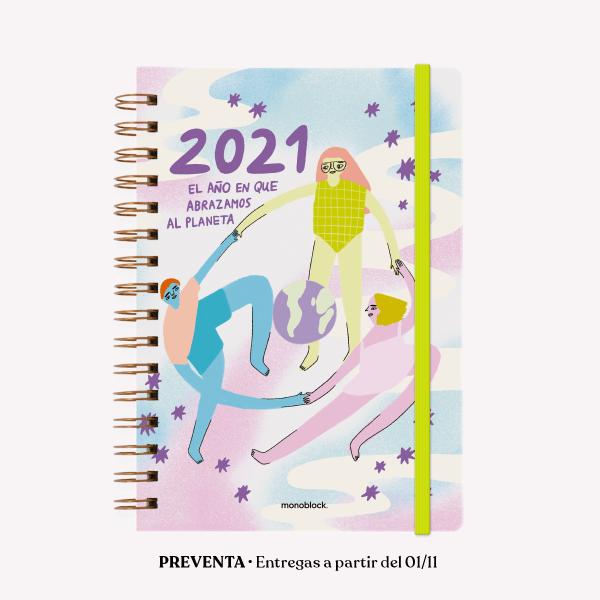 Agenda 2021 A5 Semana a la vista - Pepita Sandwich El Año que Abrazamos
