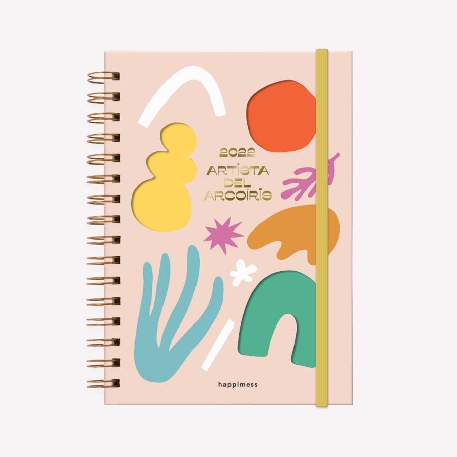 Agenda A5 2022 semana HAPPIMESS Artista del Arcoíris ROSA