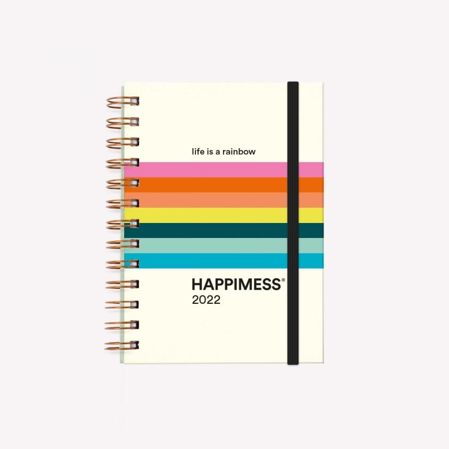 Agenda pocket 2022 2dxh HAPPIMESS Life is a rainbow