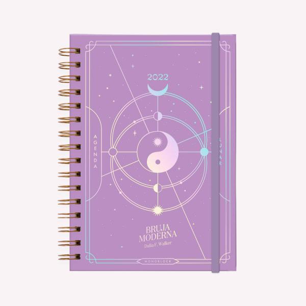 Agenda A5 2022 2dxh BRUJA MODERNA UNIVERSO Cristal