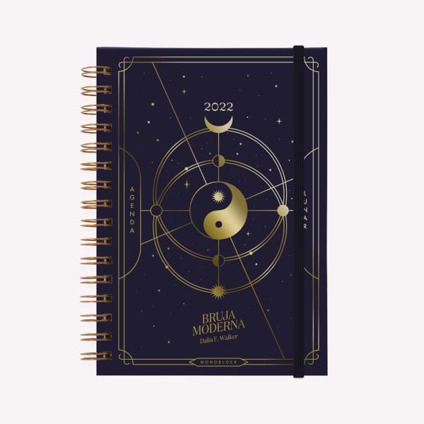 Agenda A5 2022 Semana BRUJA MODERNA UNIVERSO Oro