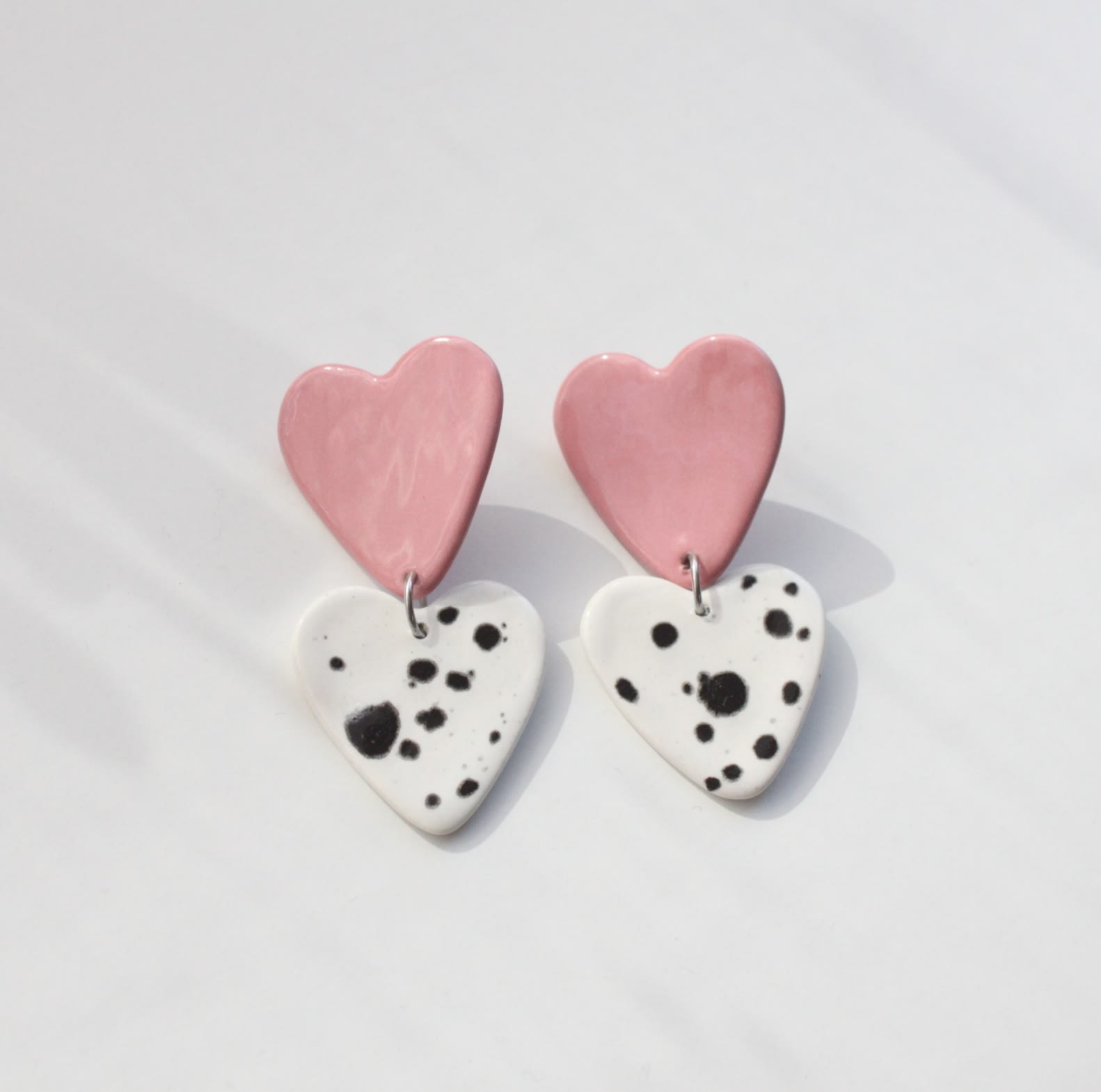 Aros Corazón rosa sprinkles