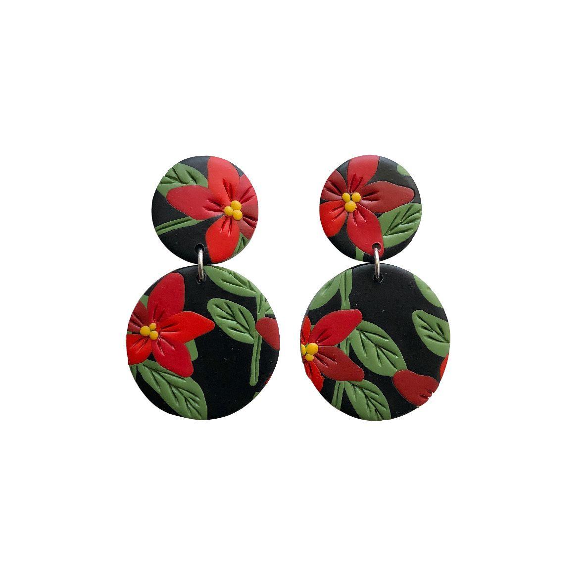 Aros Negros con flores