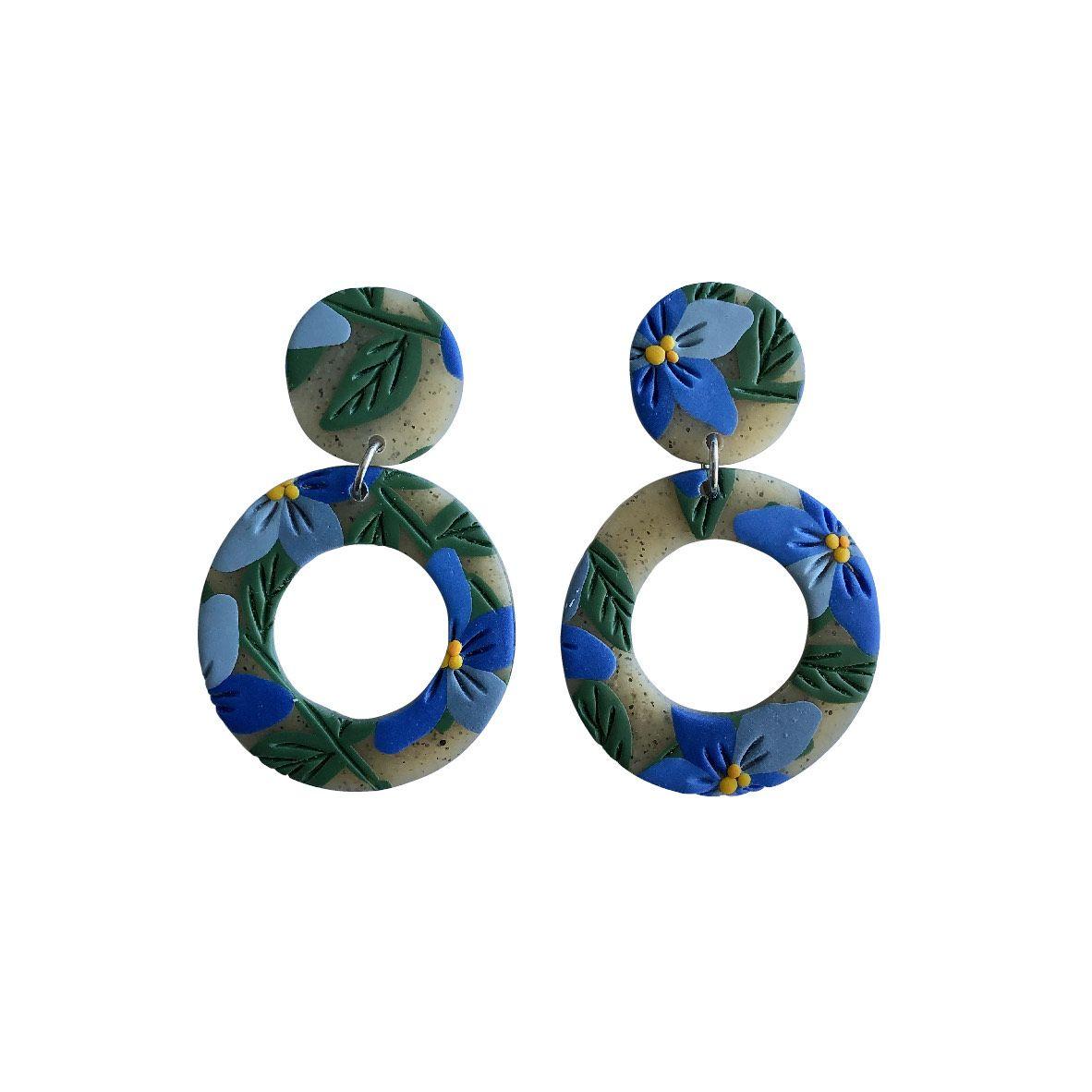 Aros translucidos círculos azules