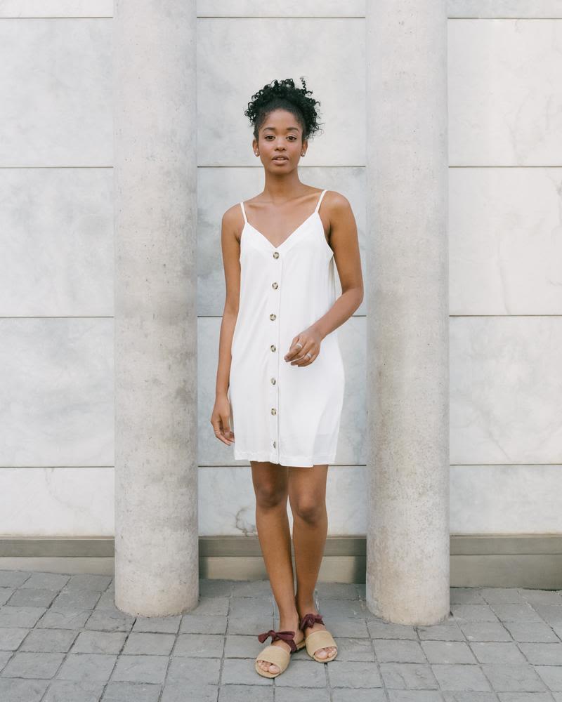 Vestido Button Blanco