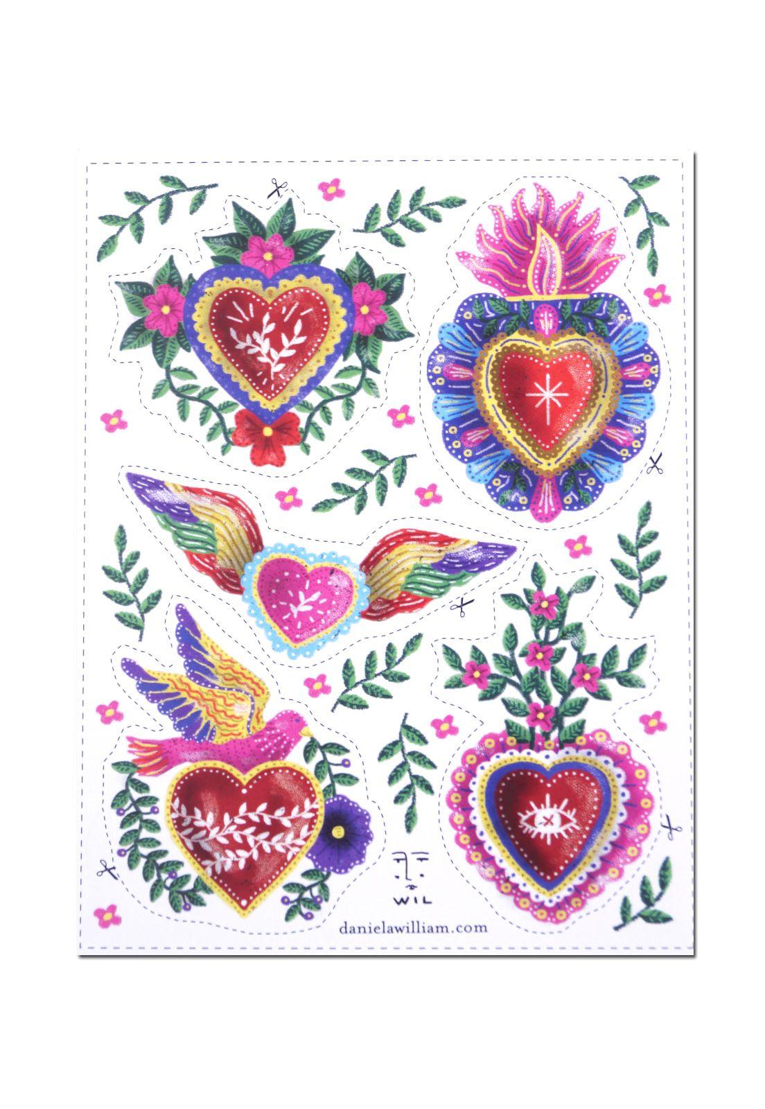 Stickers DW Milagros de Corazones