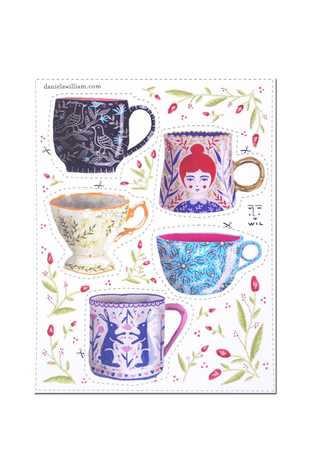 Stickers DW tazas de té