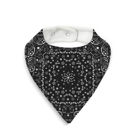 Babero bandana negra
