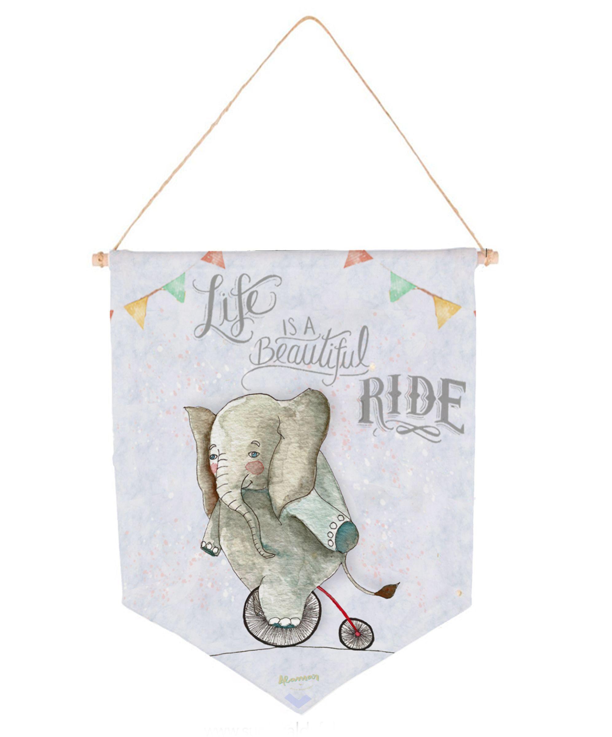 Banderin Invididual Elefante Ride - Alamar