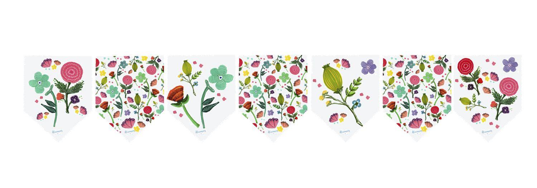 Banderin Grande Flores - Alamar