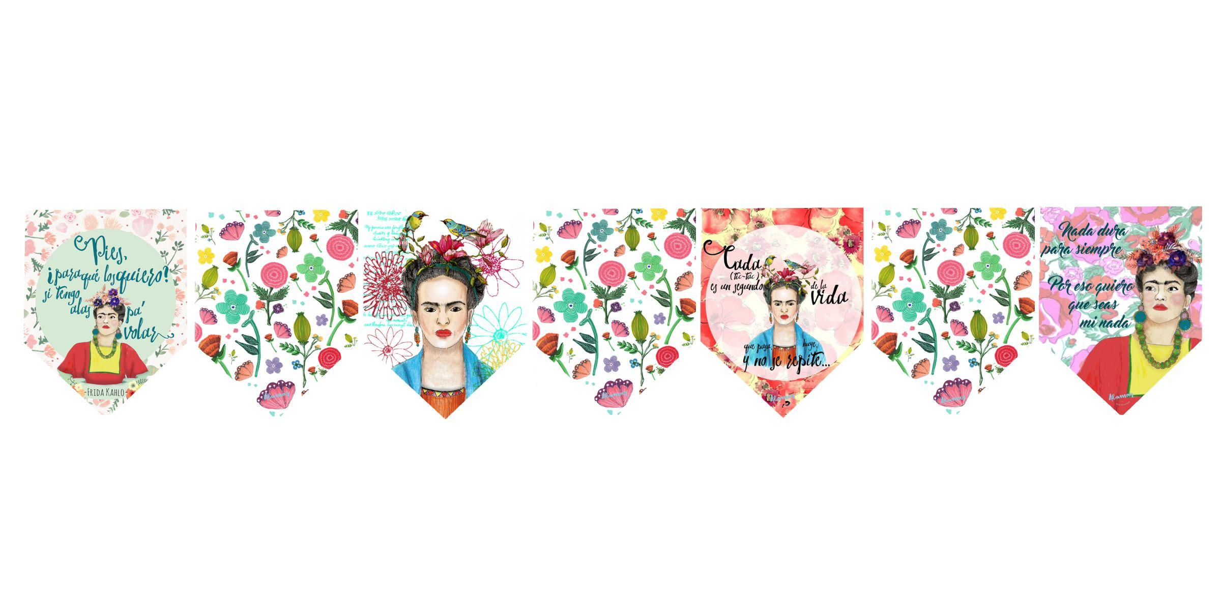 Banderin Grande Frida Kahlo - Alamar