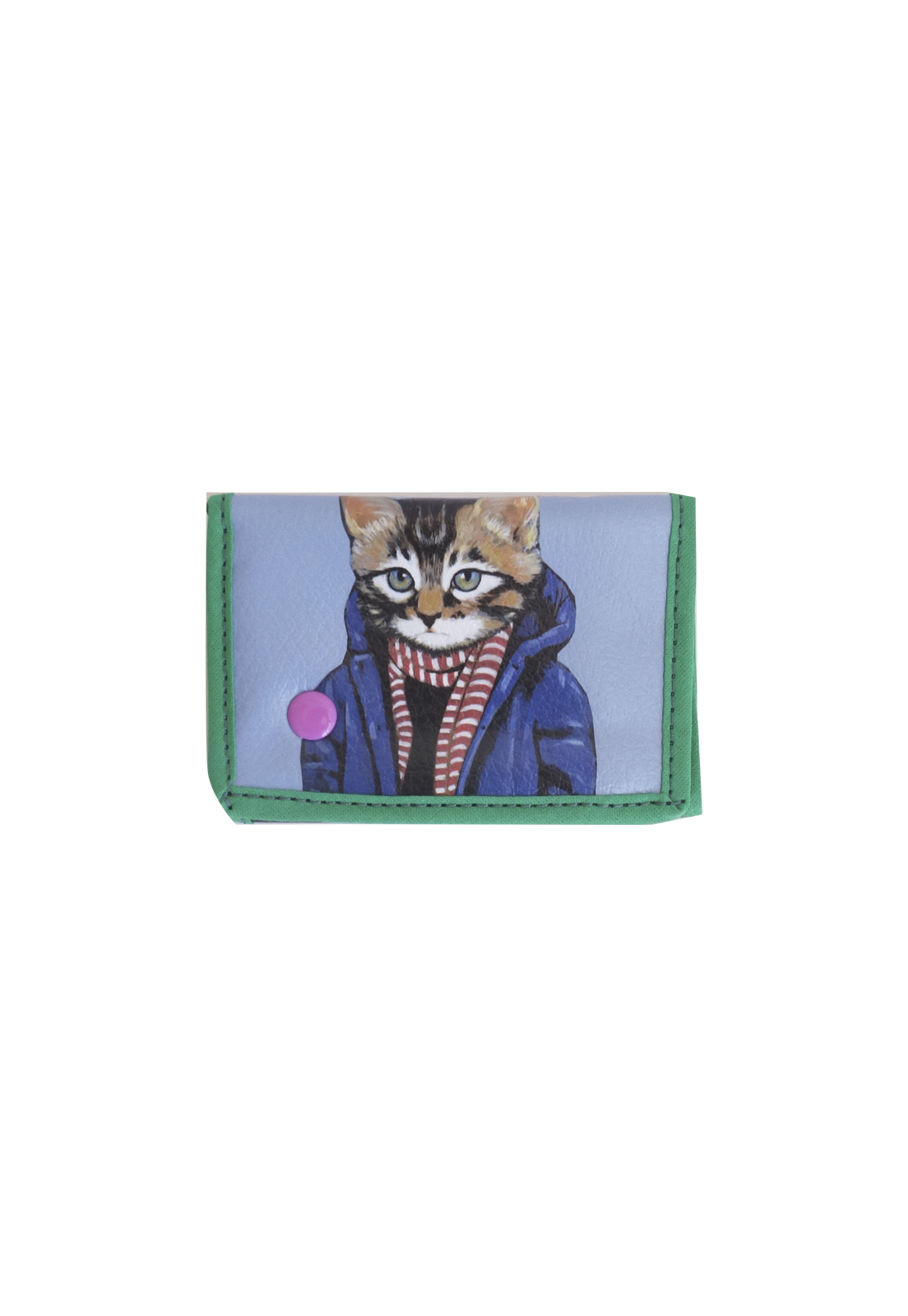 billetera gatito celeste