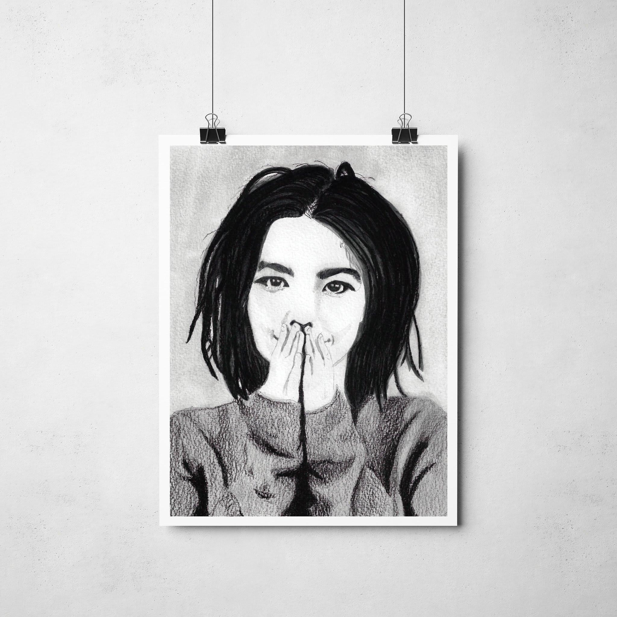 Lámina Ilustrada Björk -  Rocio Mera
