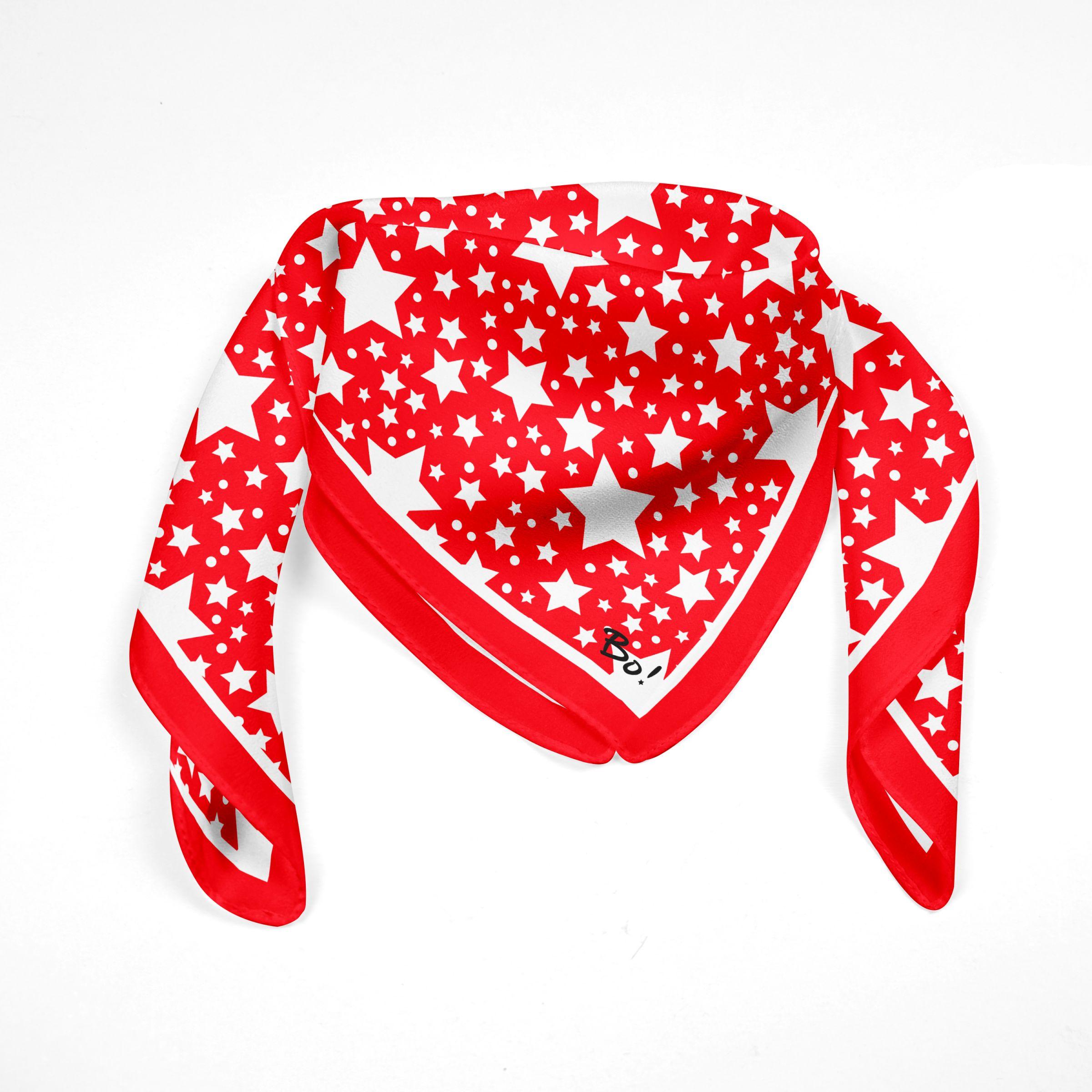 Pañuelo Estrellas Rojo 60x60