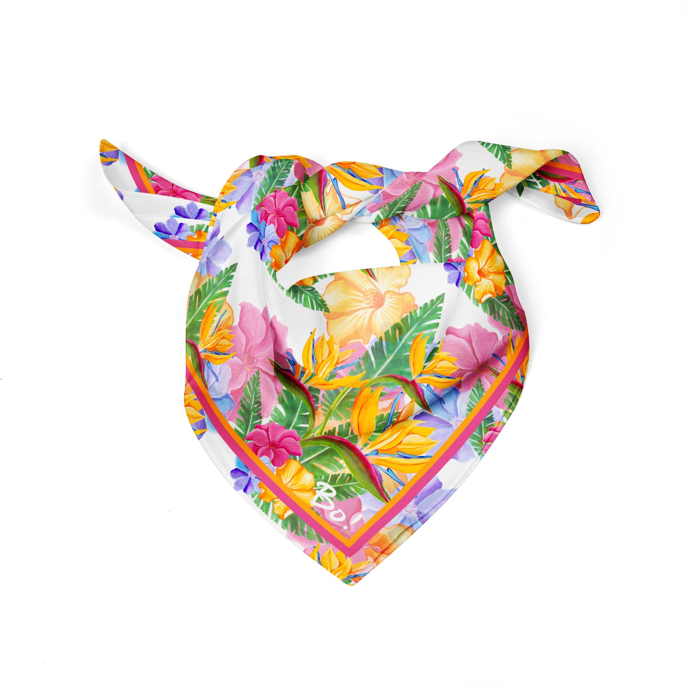Pañuelo Flor del pajaro 60x60