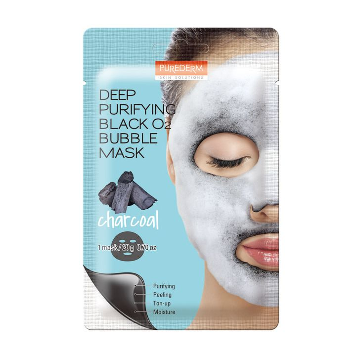 Deep Purifiying Black O2 Bubble Mask Charcoal