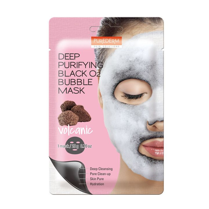 Deep Purifiying Black O2 Bubble Mask Volcanic