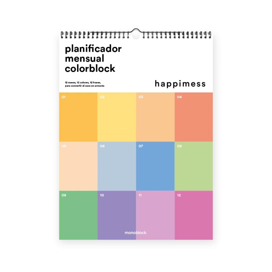 Calendario de Pared Happimess Colorblock