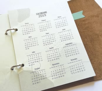 Repuesto libreta RollUp Agenda 2019 Geométrica. - Paper Me