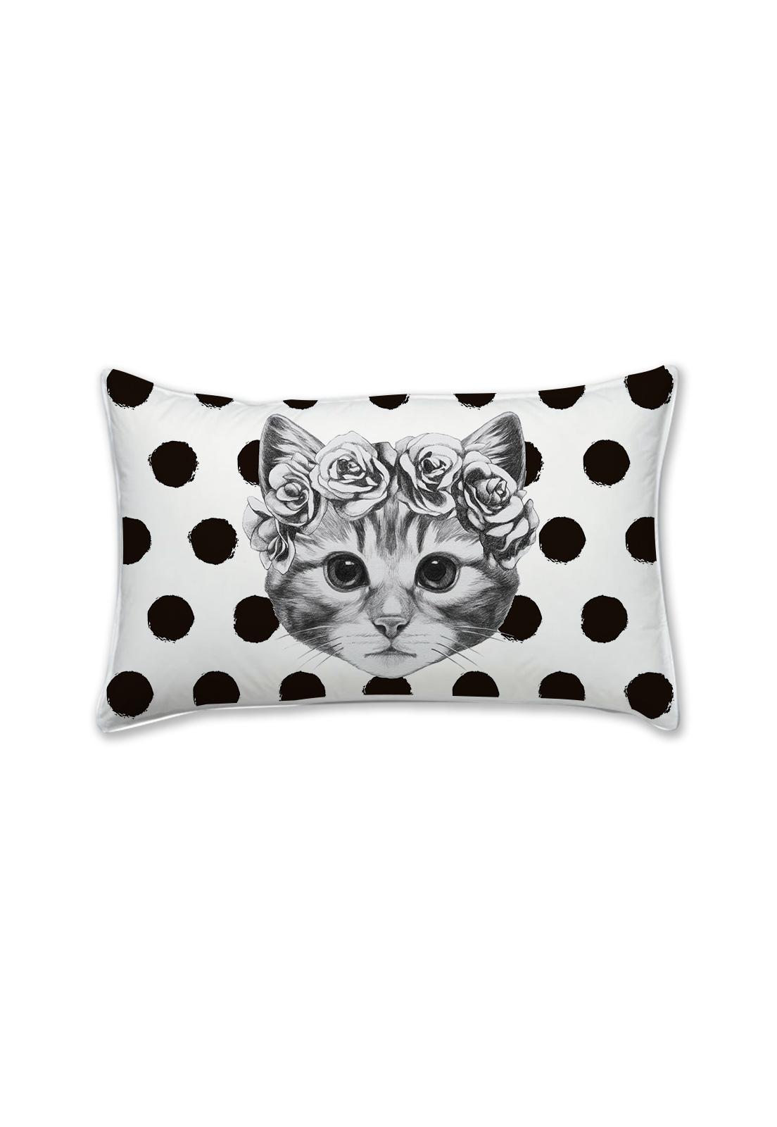 Mini almohada gata pintas negras