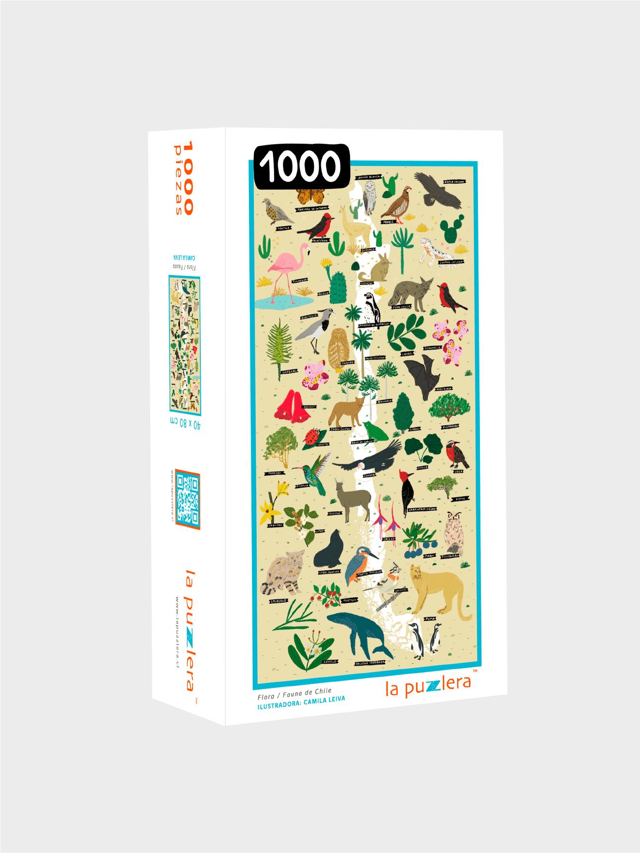 Puzzle 1000 Piezas Flora/Fauna de Chile