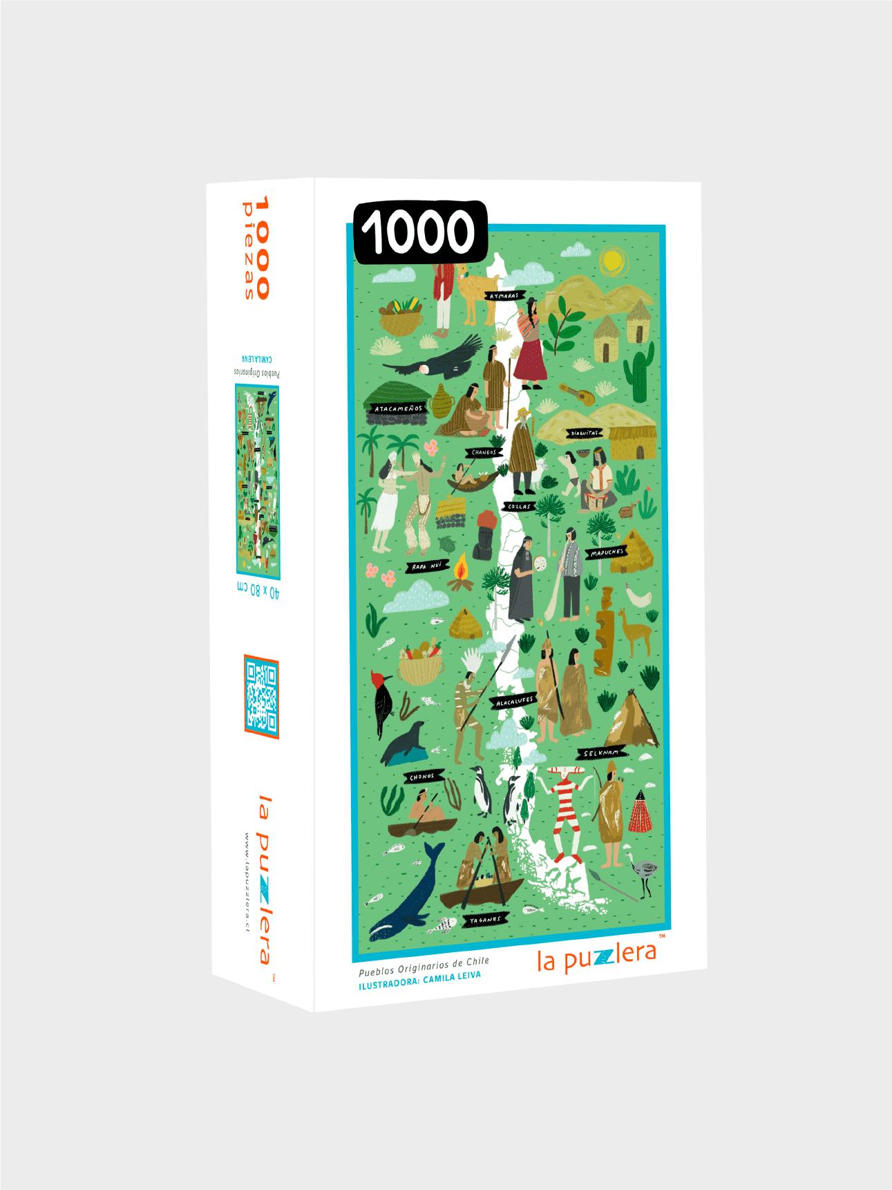Puzzle 1000 Piezas Pueblos Originarios de Chile