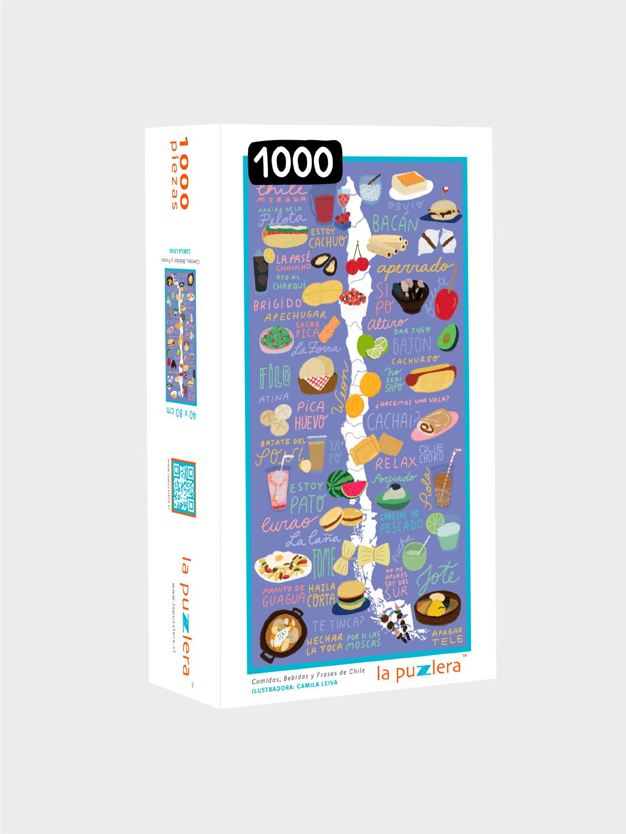 Puzzle 1000 Piezas Comidas, Bebidas y Frases