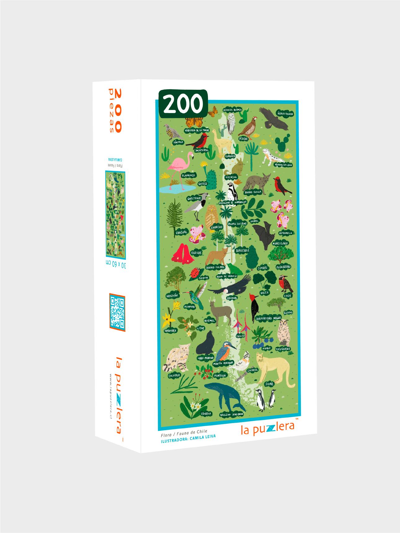 Puzzle 200 Piezas Flora/Fauna de Chile